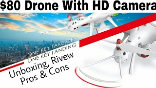 $80 Drone With HD camera (RS 5000/-) || Syma X8SW || Unboxing, Review, Pros & Cons