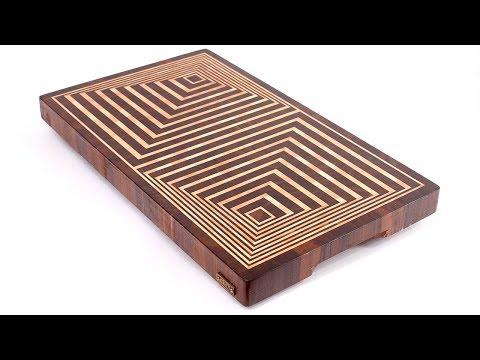 Making 3D end grain cutting board #14