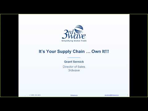 It's Your Supply Chain...Own It!