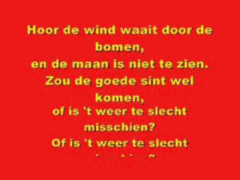 Sera Hoor De Wind Waait Door De Bomen Lyrics Junior Sintfestival Youtube