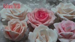 Розы из Сахарной Мастики для Торта