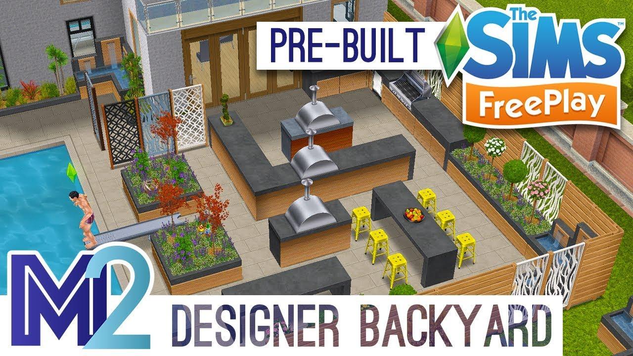 Sims FreePlay   Designer Backyard House (Pre Built Template)