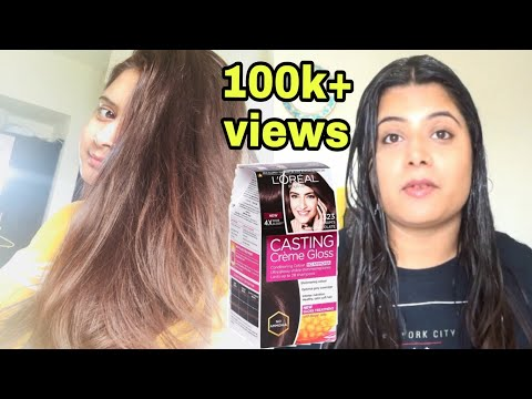 How To :Colour Our Hair At Home-loreal Casting Creme Gloss\Makeup Diary