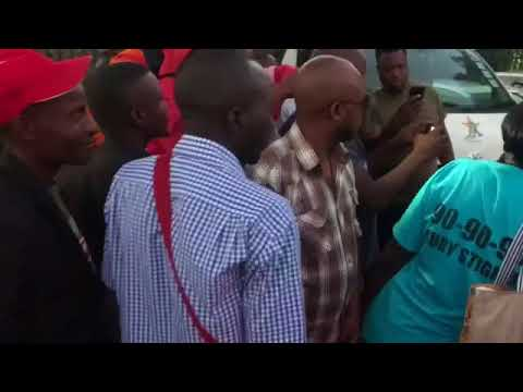 Scramble for Mukanya outside Star FM studios