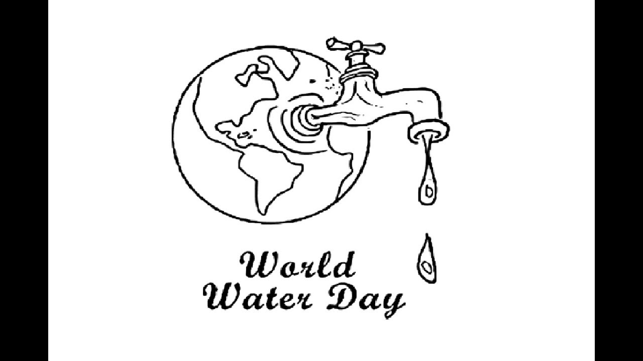 How to draw Save Water drawing on World water day step by
