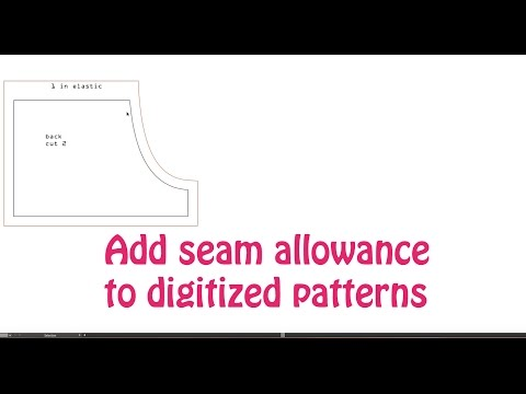 How to make a pattern for booty shorts and add seam allowances in illustrator
