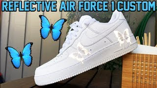NIKE AIR FORCE 1 39 BUTTERFLY EFFECT TUTORIAL 3M REFLECTIVE
