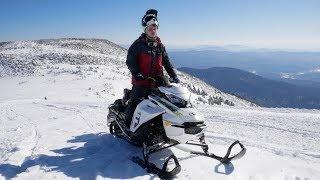 Тестируем снегоходы BRP 2019  с Бородатой Ездой  в горах Шерегеша