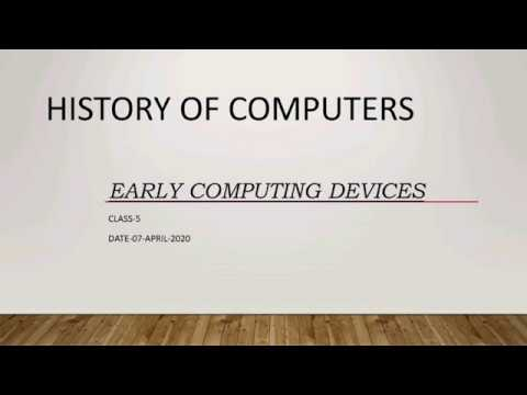 Lesson 1 - Early Computing Devices