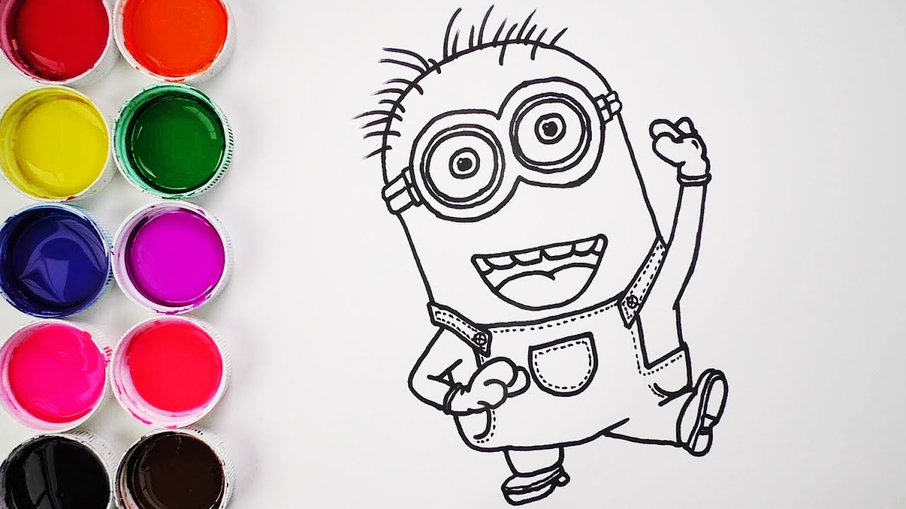 Dibujos Para Colorear De Los Minions Para Imprimir: Dibuja Y Colorea Un Minion De Arco Iris