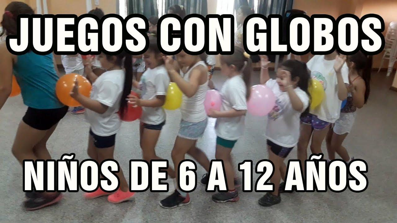 Juegos Para Ninos De 6 A 12 Anos Con Globos Didactica Para Ninos