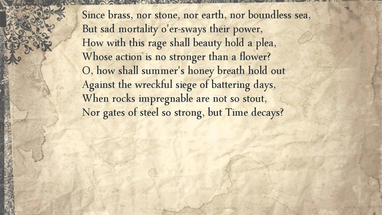 Shakespeare sonnet 65 summary