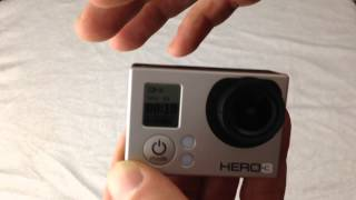 how to turn your gopro camera on and record a video instructions