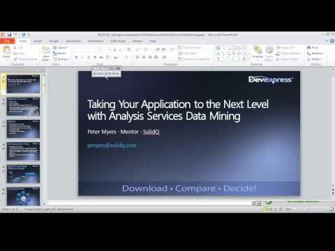 Taking Your Application Design to the Next Level with Analysis Services Data Mining