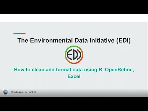 How to clean and format data using Excel, OpenRefine, and Excel
