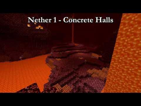 Minecraft Nether 1 Music 10 HOURS (Concrete Halls)