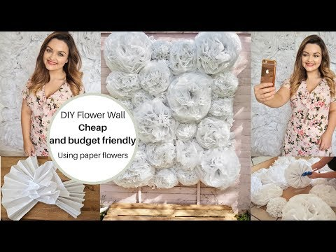 How to make a flower wall, Cheaply using faux paper flowers