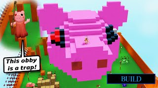 ROBLOX PIGGY BUILD w/ 99% IMPOSSIBLE TROLLING OBBY IN A GIANT PIGGY HEAD!!