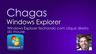 Windows Explorer parou de funcionar