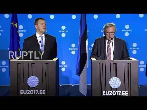 Estonia: Juncker stresses EU's support for Spanish govt. over Catalan referendum