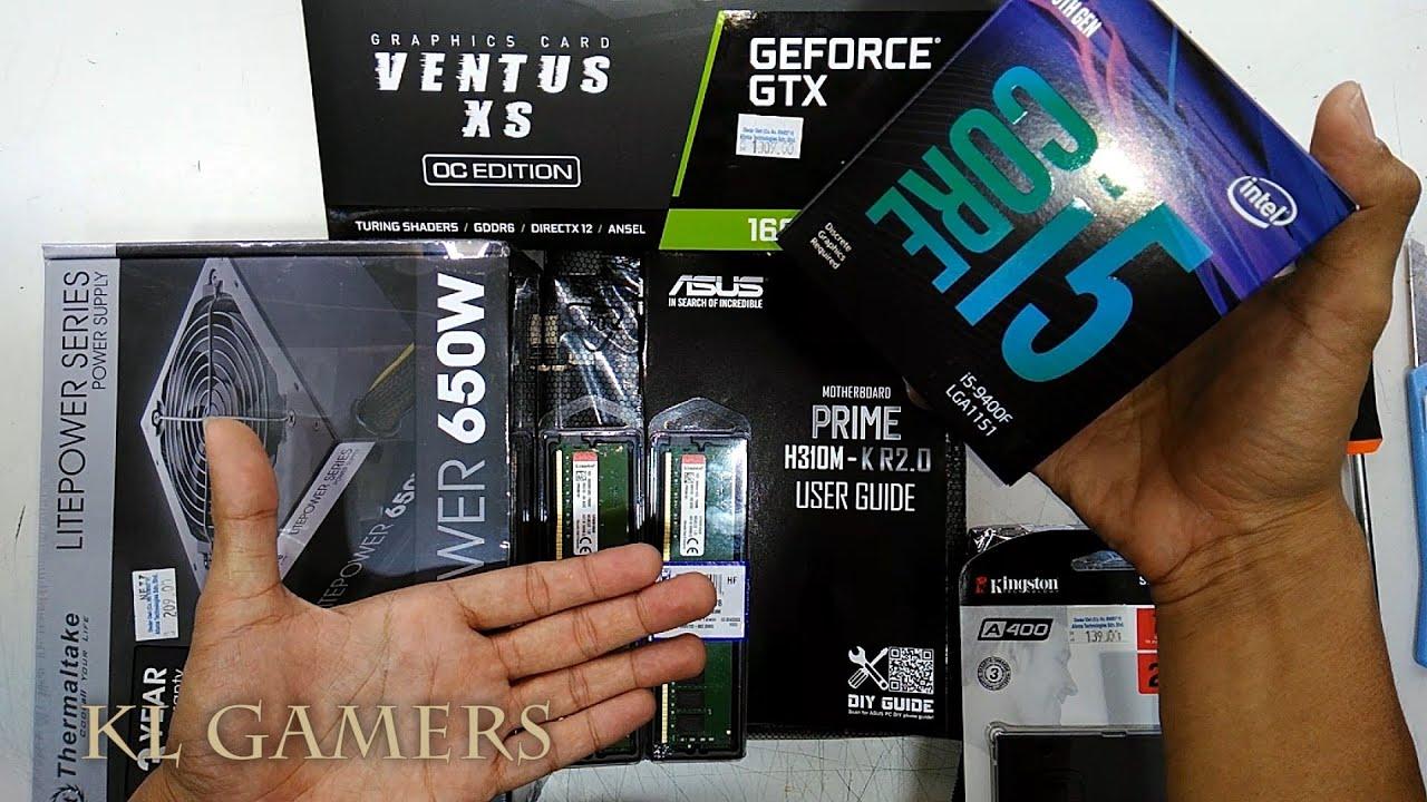 intel Core i5 9400F 16GB ASUS PRIME H310M-K R2.0 msi GTX1660Ti VENTUS XS OC LUX II Gaming Rig Build