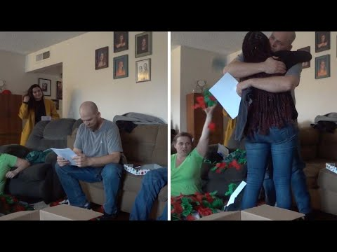 Deaf Step-Dad Surprised With Adoption Papers
