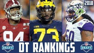 2018 NFL Draft DT Rankings - NFL Draft Prospect Rankings Vita Vea Da'Ron Payne Maurice Hurst