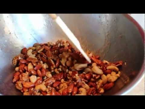 Sweet Salty Spicy Nuts -- Candied Party Nuts -- Roasted Mixed Nuts