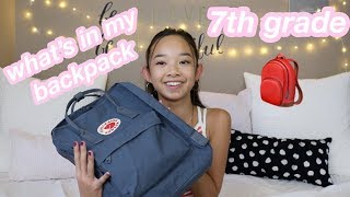 what's in my backpack 2018? *7th grade* | Nicole Laeno