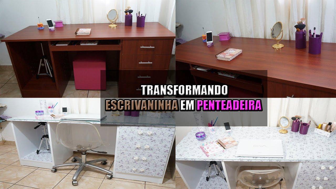 Transformando ♥ Escrivaninha em Penteadeira Grupo Beauty Secrets  #2A1411 1920x1080