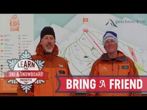 Alpha Barrie of Sierra Leon learns Snowboarding at Grand Targhee