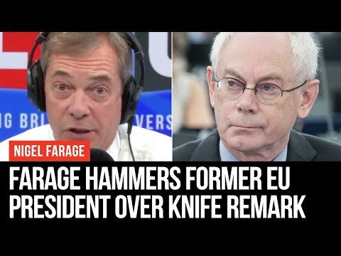 "Nigel Farage Hammers Herman Van Rompuy Over ""Knife On Their Throat"" Comment"