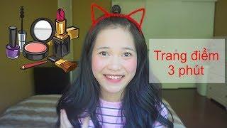 Thử thách trang điểm trong 3 phút - 3 minutes makeup challenge | Ha Mac
