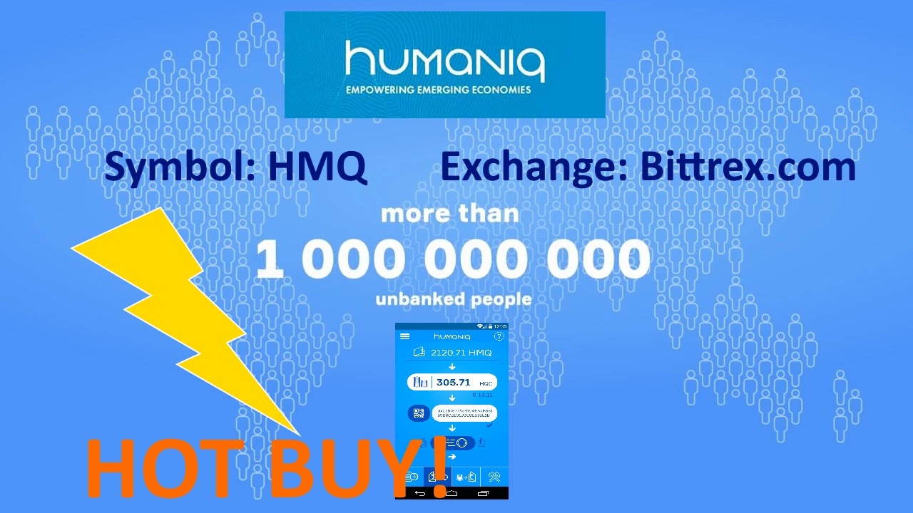 Humaniq HMQ, 42K Twitter, $0 08 on Bittrex, HOT BUY!
