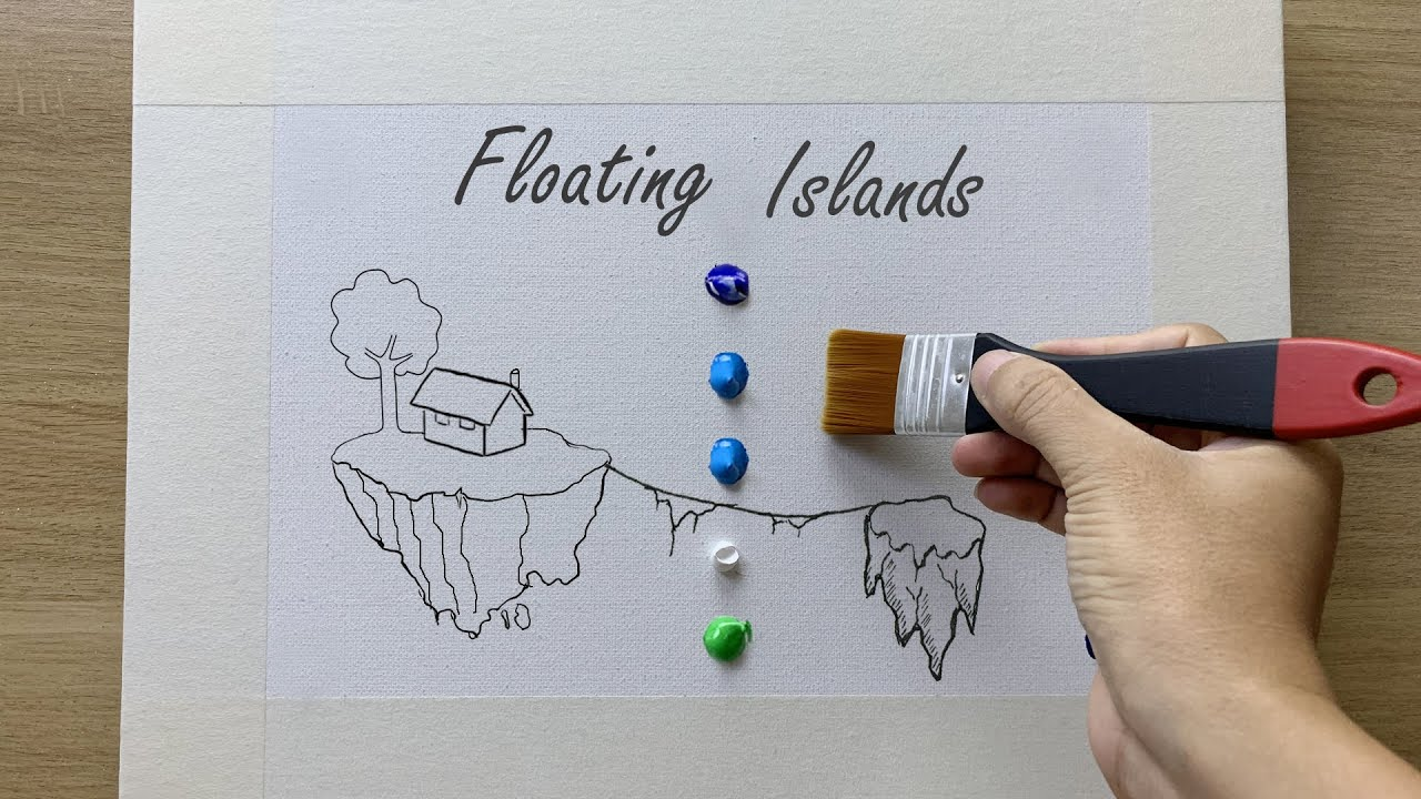 Daily challenge #172 / Special Art in August / Floating Island Painting