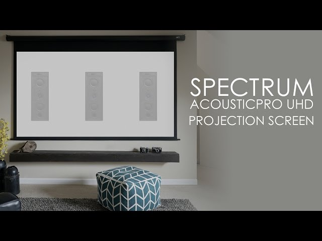 Elite Screens Spectrum AcousticPro UHD Acoustically Transparent (AT) Screen