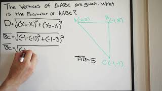 Find the Perimeter oḟ the Triangle given the Vertices