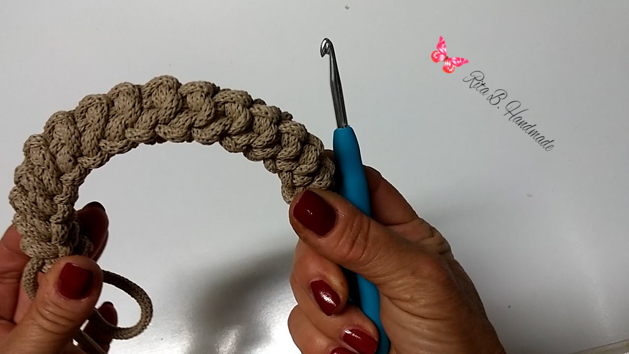 Manici Per Borsa Spighetta Rumena Tripla O 3d Crochet Youtube