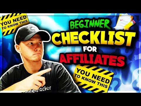 Affiliate Marketing Checklist for Beginners (Everything You Need to Know)