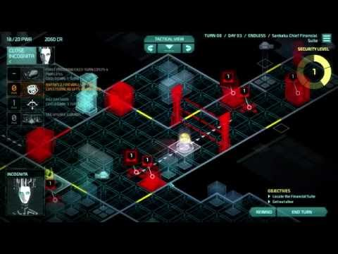 Let's Play Invisible, Inc. Endless - Run #1 - Mission 4 - Financial Facepunching