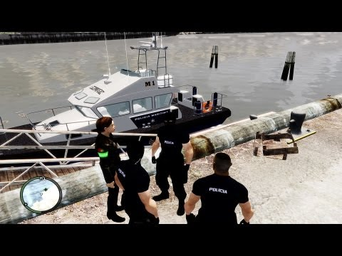GTA LCPDFR Portugal Marine POLICE Missions Patrolling in Action & Royalty Free Music