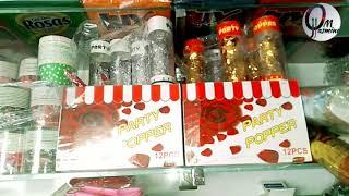 جولة في محل لبيع مستلزمات اعياد الميلاد وبعض مشترياتي لتحضير عيد ميلاد ابنتي