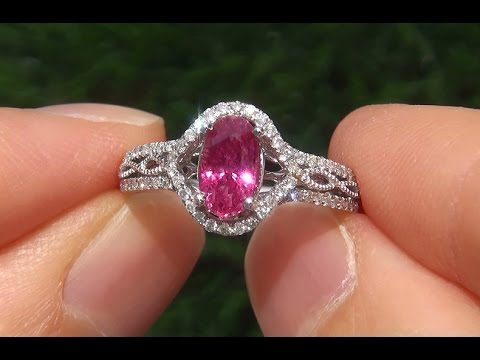 quotpadparadschaquot color natural pink sapphire diamond 14k