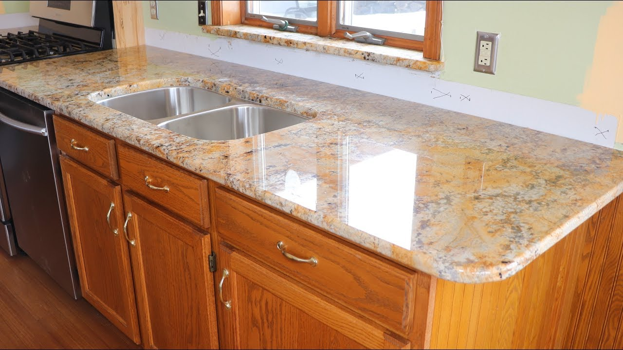Popular Granite Countertop Configurations Orlando: Kitchen Update Part 9 Installing The Granite Countertops