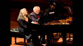 Martha Argerich -Eduardo Hubert: BACALOV Porteña for two pianos and orchestra-10-6-2015 Lugano