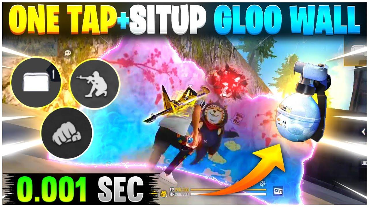 One Tap + Sit Up Gloo Wall Trick 🔥| Super Fast Gloo Wall Trick | One Tap Headshot Trick Free Fire 👽