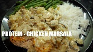 Healthy Bodybuilding Recipe - Chicken Marsala