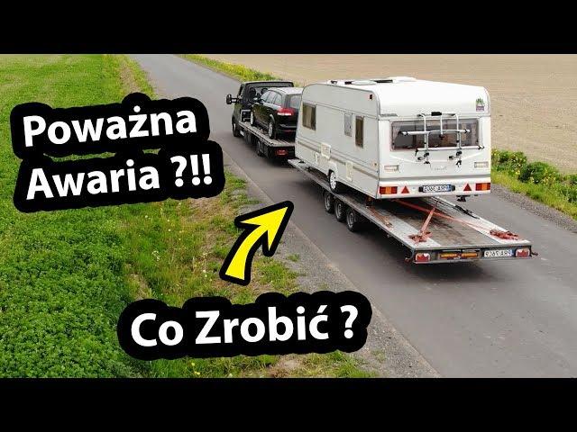 Awaria Przyczepy Kempingowej !!! - Holowanie na Lawecie - Symulacja cz.1 (Vlog #283)