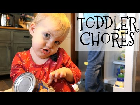 Simple Chore Ideas for Toddlers || 12-24 Months Old