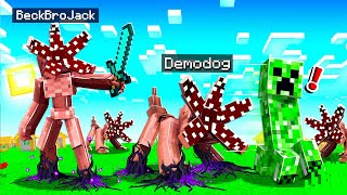 TRAINING MY DEMODOG ARMY IN MINECRAFT!
